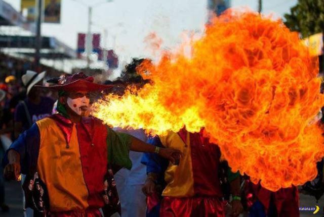 fire breathing jester