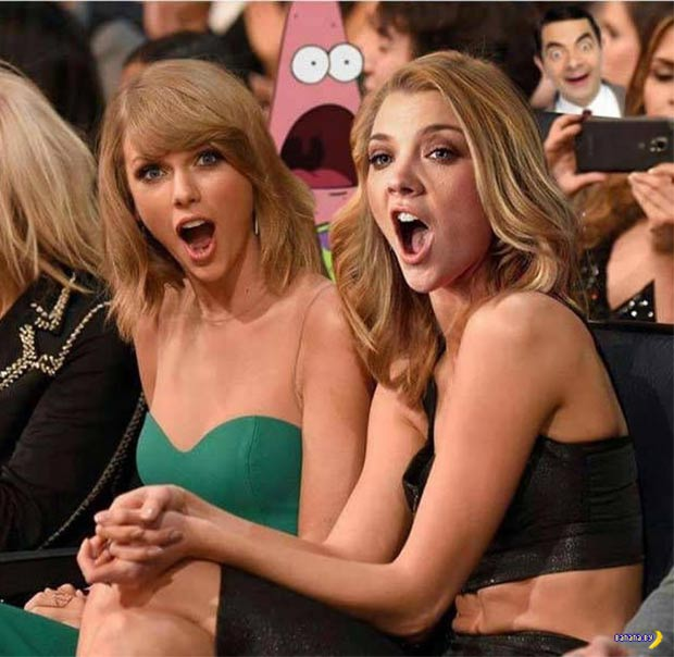 At the Grammys with Taylor Swift, Patrick, & Mr. Bean