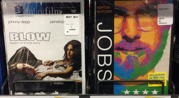 Bad but funny product placement ~ DVDs Blow Jobs