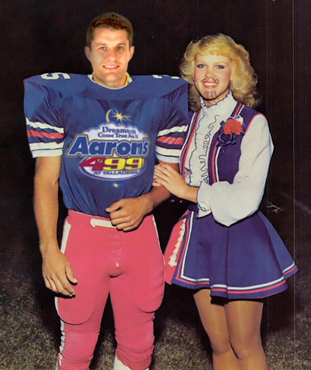 David Ragan was not only on the homecoming court At Perry High in Unadilla Georgia, he was also 3rd string long snapper ~ funny nascar driver yearbook photos