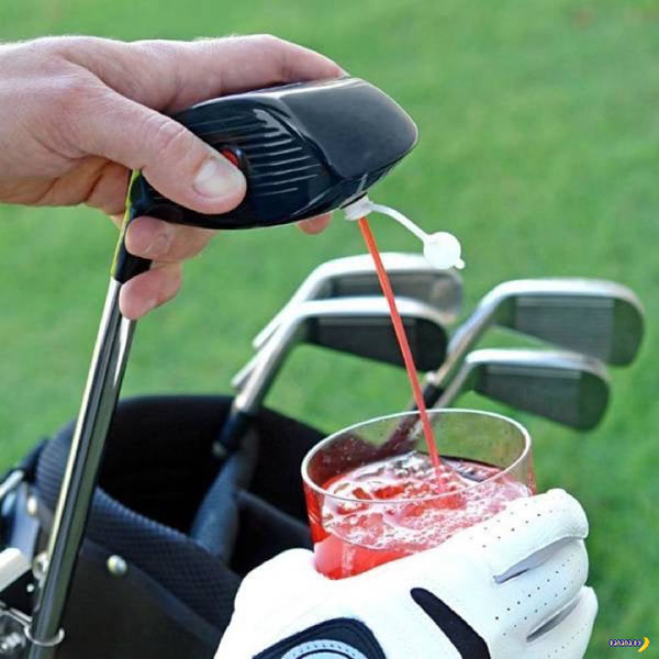 Awesome golf club driver flask