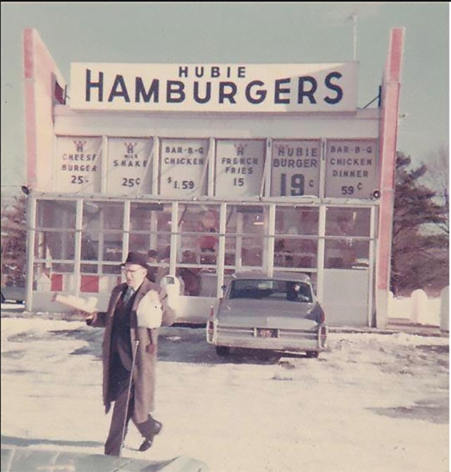5 fast food hamburgers in 1962 cost one buck.