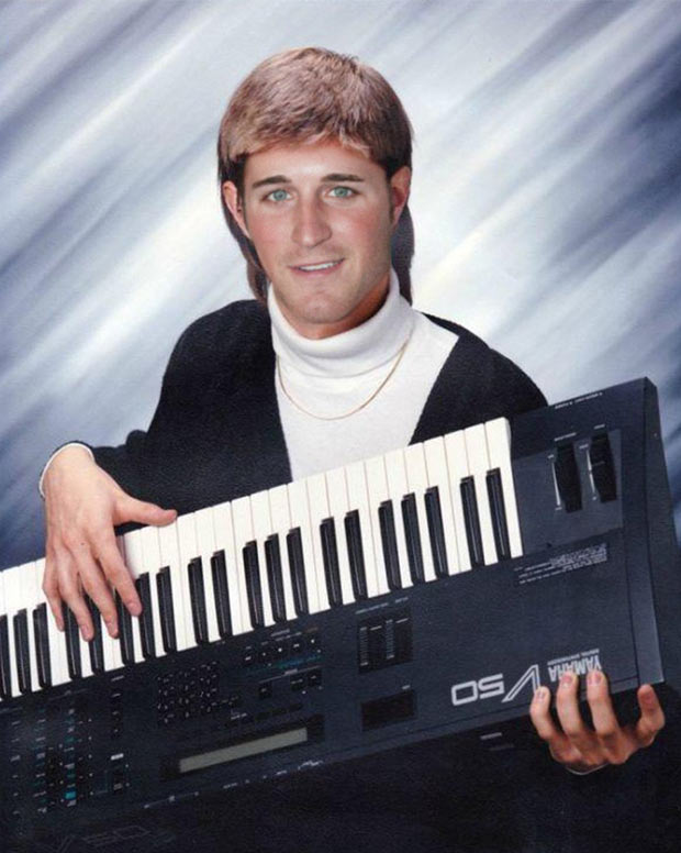 Kasey Kahne, the white Lionel Ritchie of Enumclaw High School ~ funny nascar driver yearbook photos