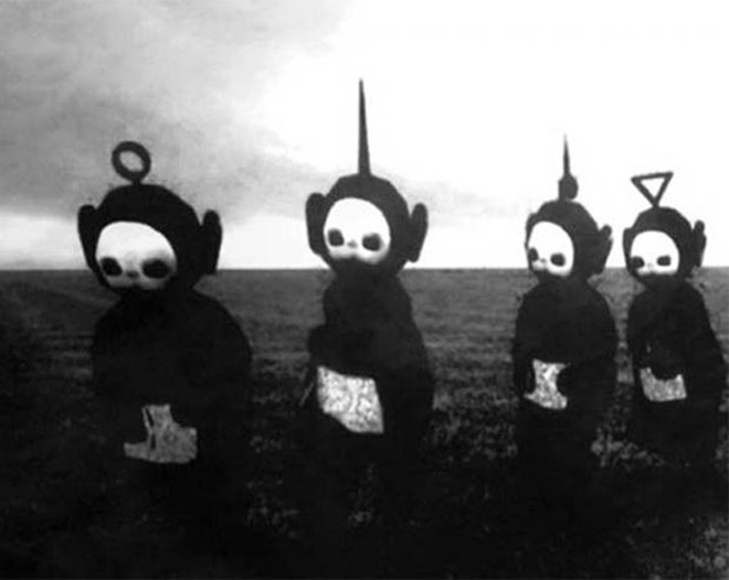 Scary Cult of the Teletubbies ~ old creepy photos