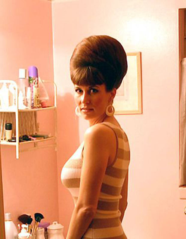 Classic beauty. 1960s beehive hairstyle