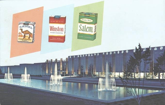 vintage JR Reynolds postcard, cigarettes headquarters, ~~ funny pics & memes