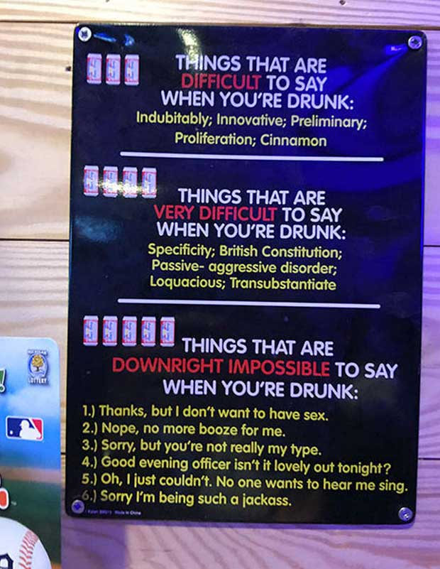 Things that are difficult to say when your drunk... ~~ funny pics & memes