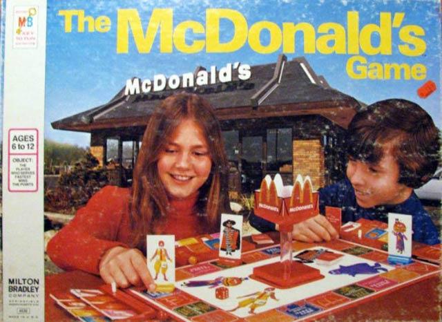 Vintage McDonald's boardgame ~~ funny pics & memes
