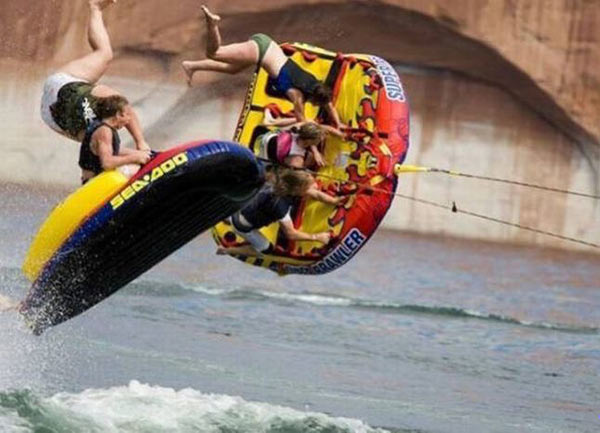 Incredible tubing wipeout ~~ funny pics & memes