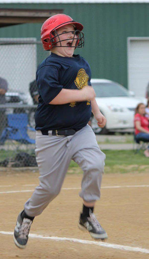 Derp! When you get hit by a pitch and finally can take firs base for the first time! ~~..~~ ~Funny Pics Memes