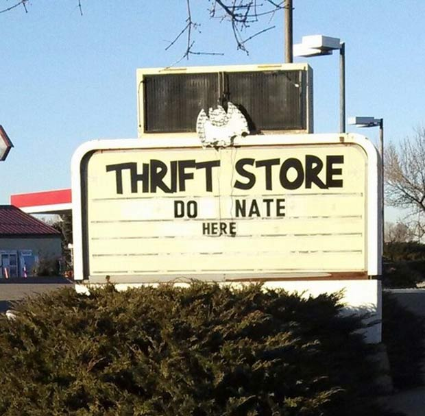 Is that what you call sloppy seconds? ~~~funny sign fails
