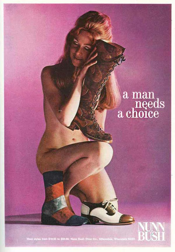 Shoes to put her in her place ~ Sexist ads vintage and new Nunn Bush