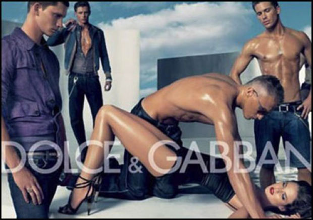 Why? Another drunk fraternity party gone bad? ~!~ Sexist ads vintage and new ~ Dolce & Gabban
