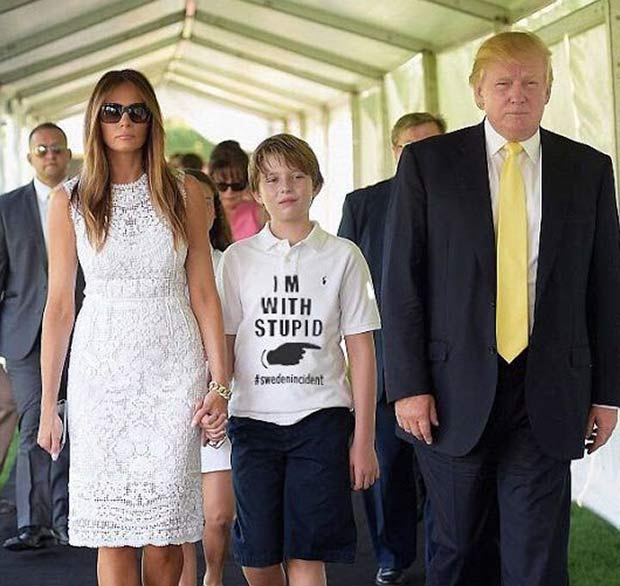 Baron Trump and Dad Donald... I'm with stupid T-shirt