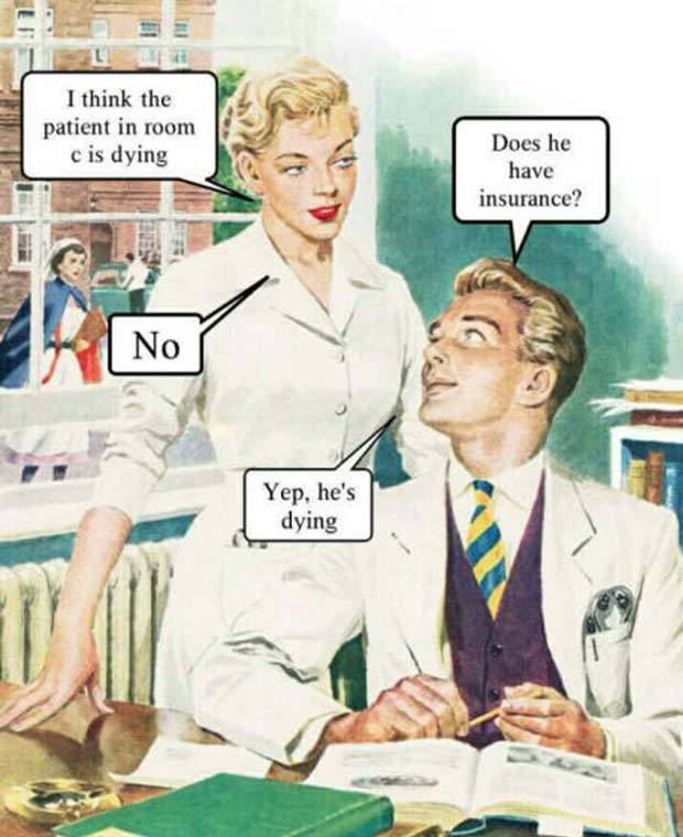 Truth in Health Care ~ Funny pics & memes comic