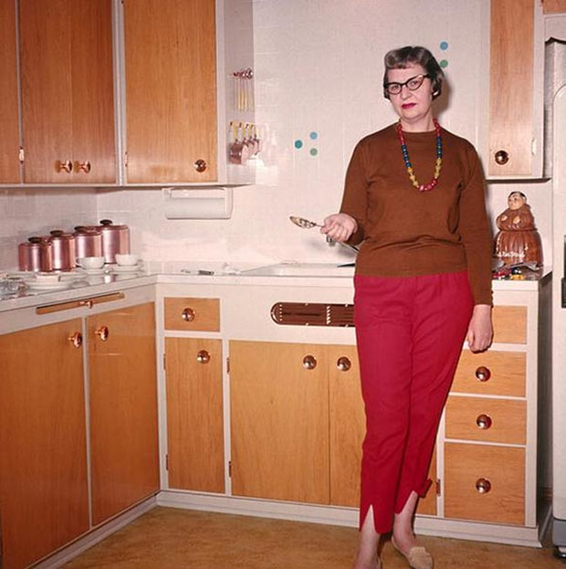 Aunt Betty's career as a spoon model may have been short-lived, but she's still got it! ... ~ Awkwardly funny family photos vintage color snaps