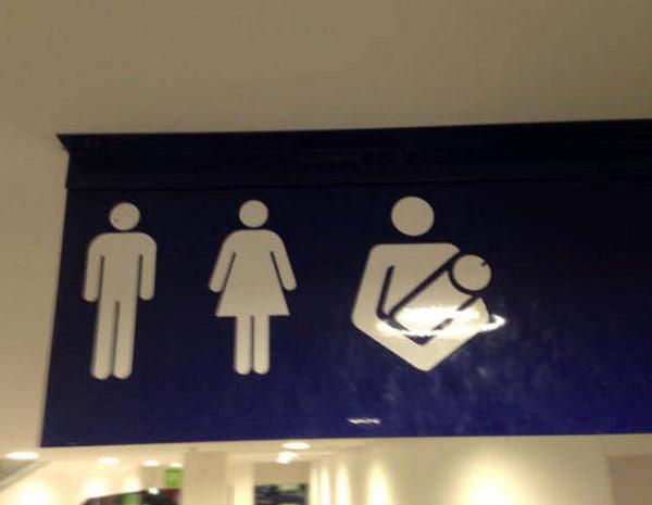 The restroom at HJ Massage... ... ... funny signs