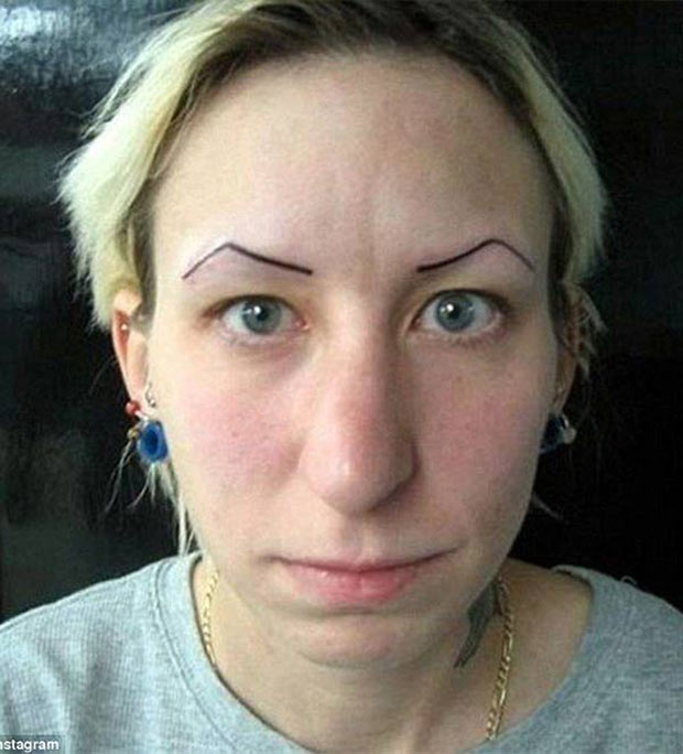 eyebrow tattoos for that forever perplexed look