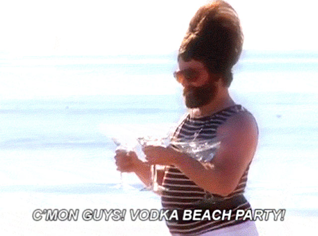 Count me in!! ~ Funny meme vodka beach party!