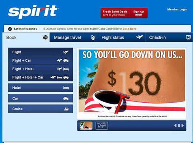 Sexist ads ~ Spirit Airlines ~ Go down on us