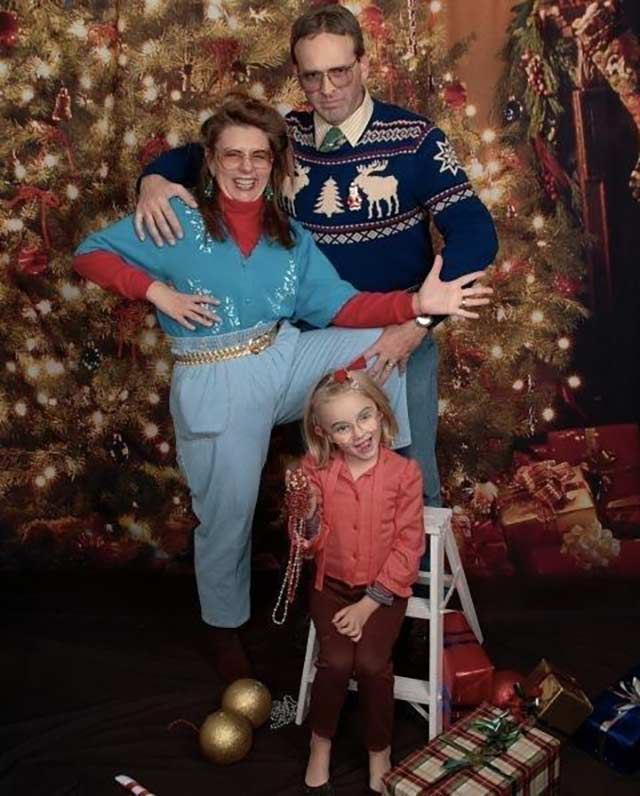 Gotta love the Mom Jeans ~ Funny Family Christmas Cards, Awkward indeed.