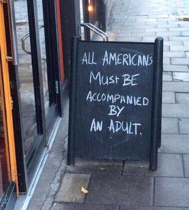 God Bless the U.S.A! ~ Funny Sidewalk Signs