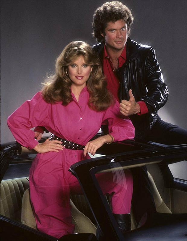 The Hoff! ~ 80s promo pic fron Knight Rider with David Hasselhoff
