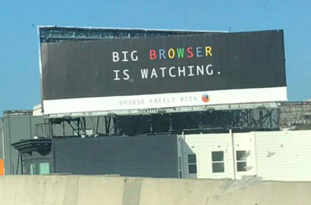 Funny Billboard ~ Big Browser is Watching ~ funny pics and memes