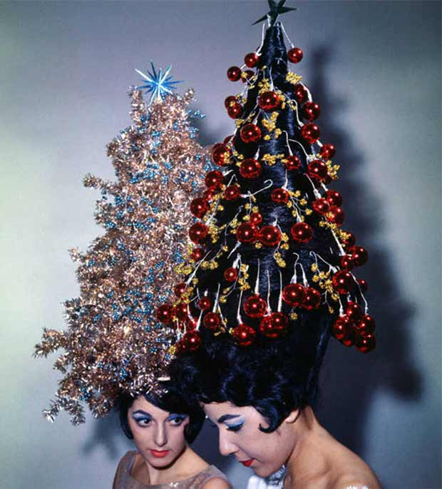 The Ultimate in Christmas Tree Hair-dos