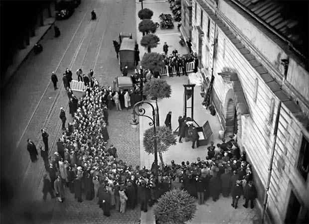 The last public execution by guillotine. France, 1938.