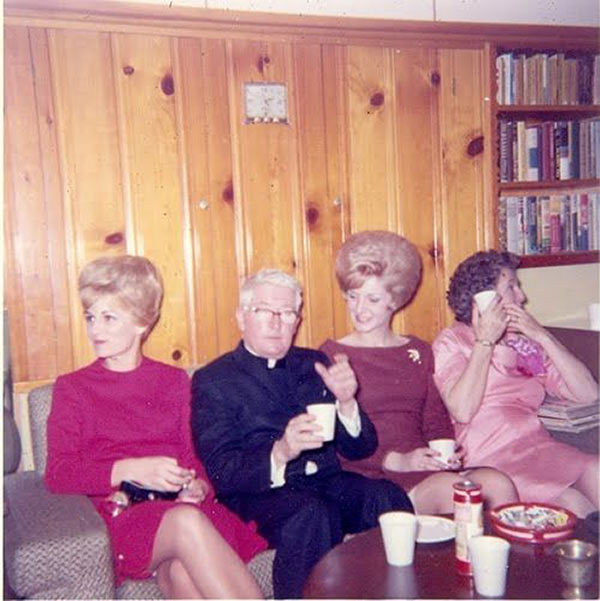 Why Father O'Flannery never thought twice about saving the leftover Christmas communion wine. ~.~ ... Funny Awkward family photos, vintage snapshots