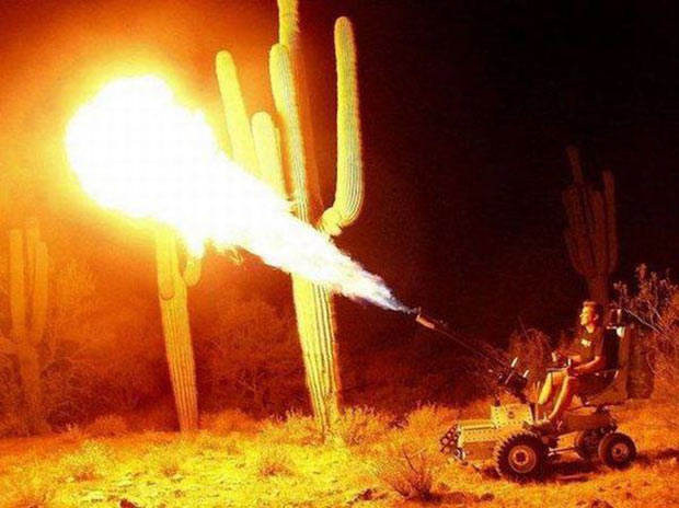 I want, no, need one of those! flame throwing all terrain vehicle ~ funny pics, funny memes