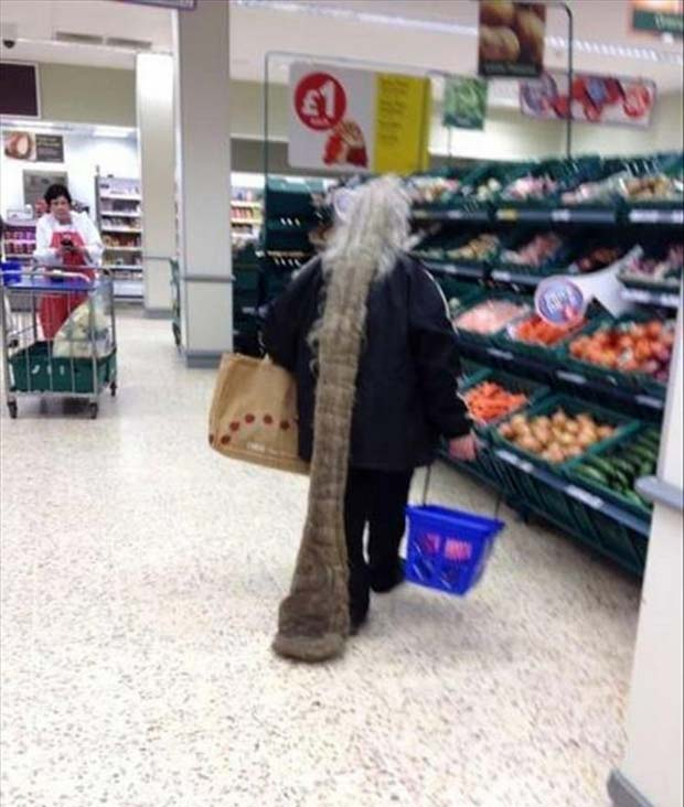 Beaver lady ~People of Walmart ~crazy hair ~ funny pics, funny memes