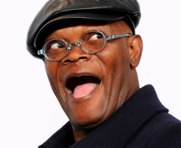 Samuel L. Jackson Without Teeth