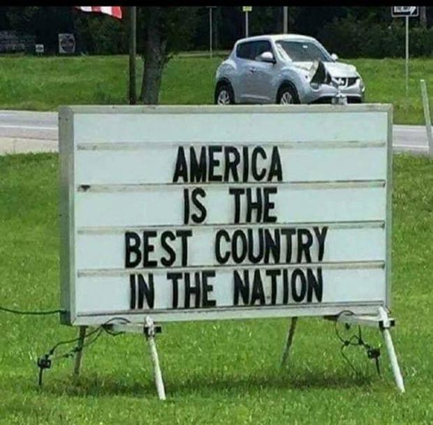 God Bless the Public School System ~Funny Stupid Signs ~ Marquee Fail ~ America is the best country in the nation