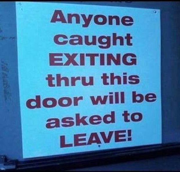 Funny Exit Signs ~Fail