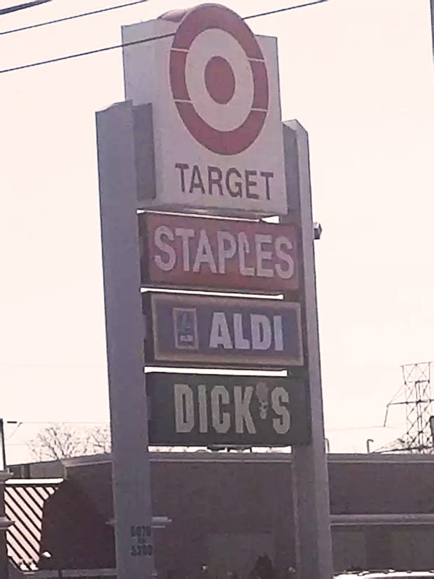 Funny Store Signs ~All in order... Target Staples Dick's ~ store marquee