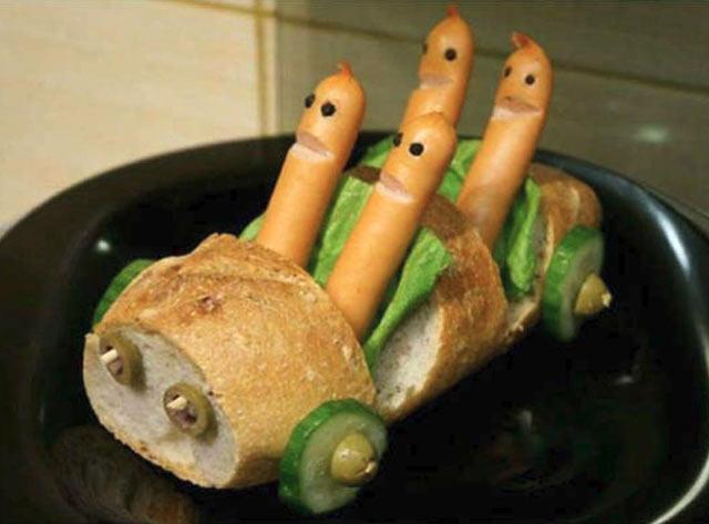 Funny food hot dog family n bread car funny pics memes