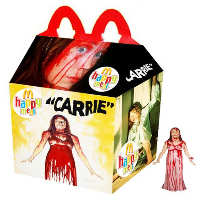 33 Funny Pics and Memes of the Day ~ Carrie Happy Meal McDonalds, horror movies