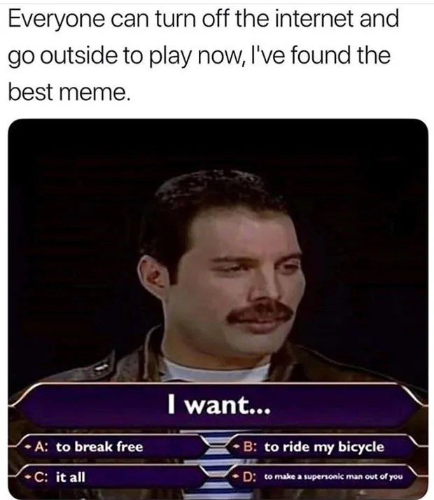 Funniest Memes of the Day ~Freddie Mercury, Queen, best meme ever