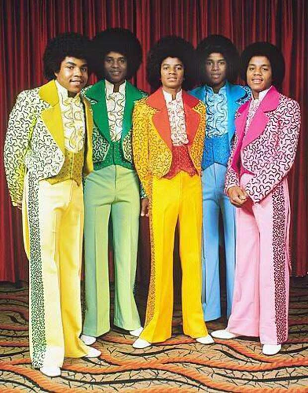 Vintage snap of Michael Jackson and Jackson 5, 1970s, historical photos