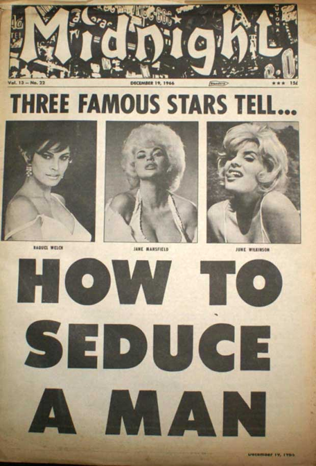 ~ 33 Funny Pics and Great Memes~ VintageMidnight Magazine Cover tabloid famous stars how to seduce a man celebrities
