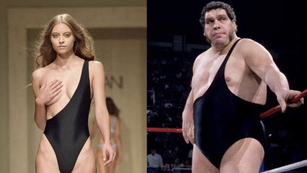 35 Funny Pics and Memes Ya Gotta See ~ ~ look alike Andre the giant fashion model fashion fails