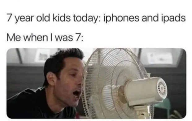 Random Humor : 35 Funny Pics and Memes ~ kids today iPhones iPads sticking tongue in fan