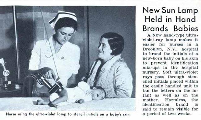 Random Humor : 35 Funny Pics and Memes ~ vintage ad, nurse sun lamps for babies