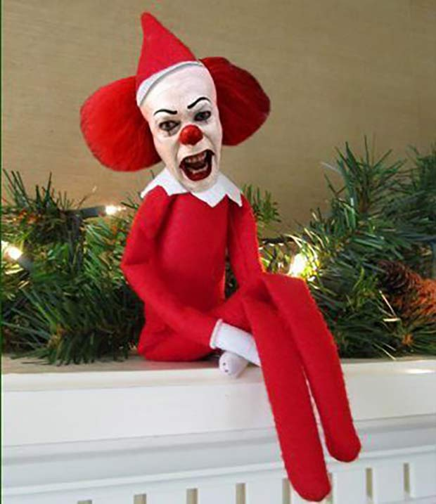 35 Funny Memes and Pics of Humor Galore ~ creepy elf on the shelf It movie, Pennywise clown