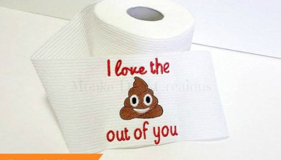20 Hilarious Christmas Gifts for under 20 – I Love the Poop Out of You Toilet Paper