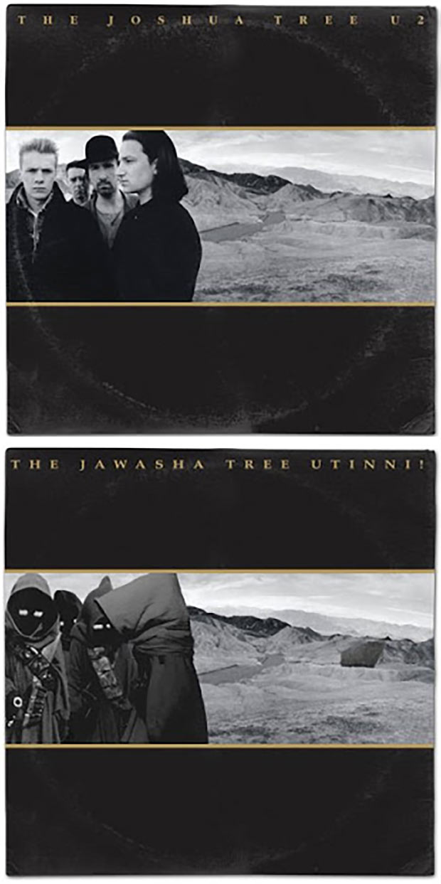 28 Star Wars ~ Classic Album Covers Mash-ups That ROCK! ~ u2 Joshua Tree Jaws