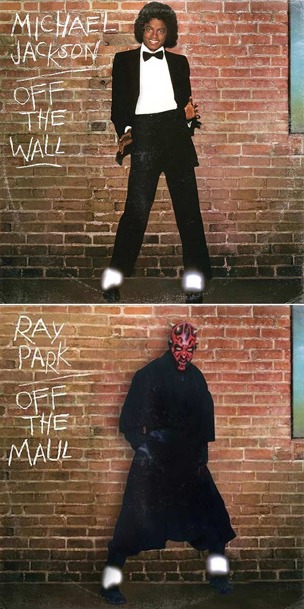28 Star Wars ~ Classic Album Covers Mash-ups That ROCK! ~ Micheal Jackson Off the Wall