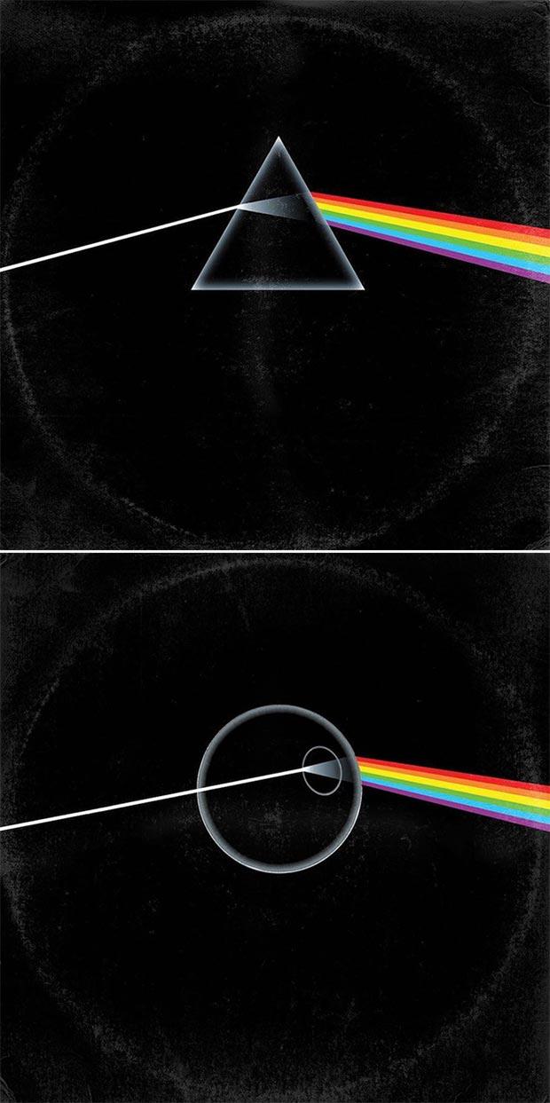 28 Star Wars ~ Classic Album Covers Mash-ups That ROCK! ~ Pink Floyd Dark Side Death Star